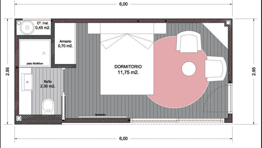 plano bungalow modular