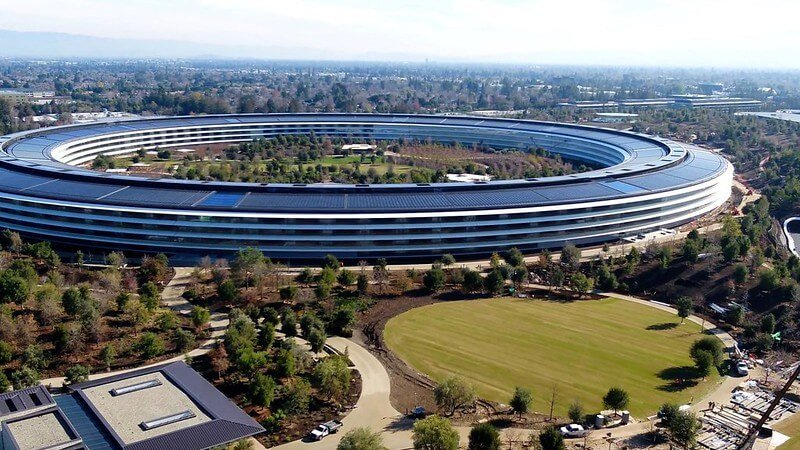 Edificio sostenible y moderno Apple Park